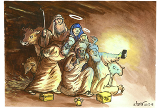 Nativity Selfie by Patrick Blower